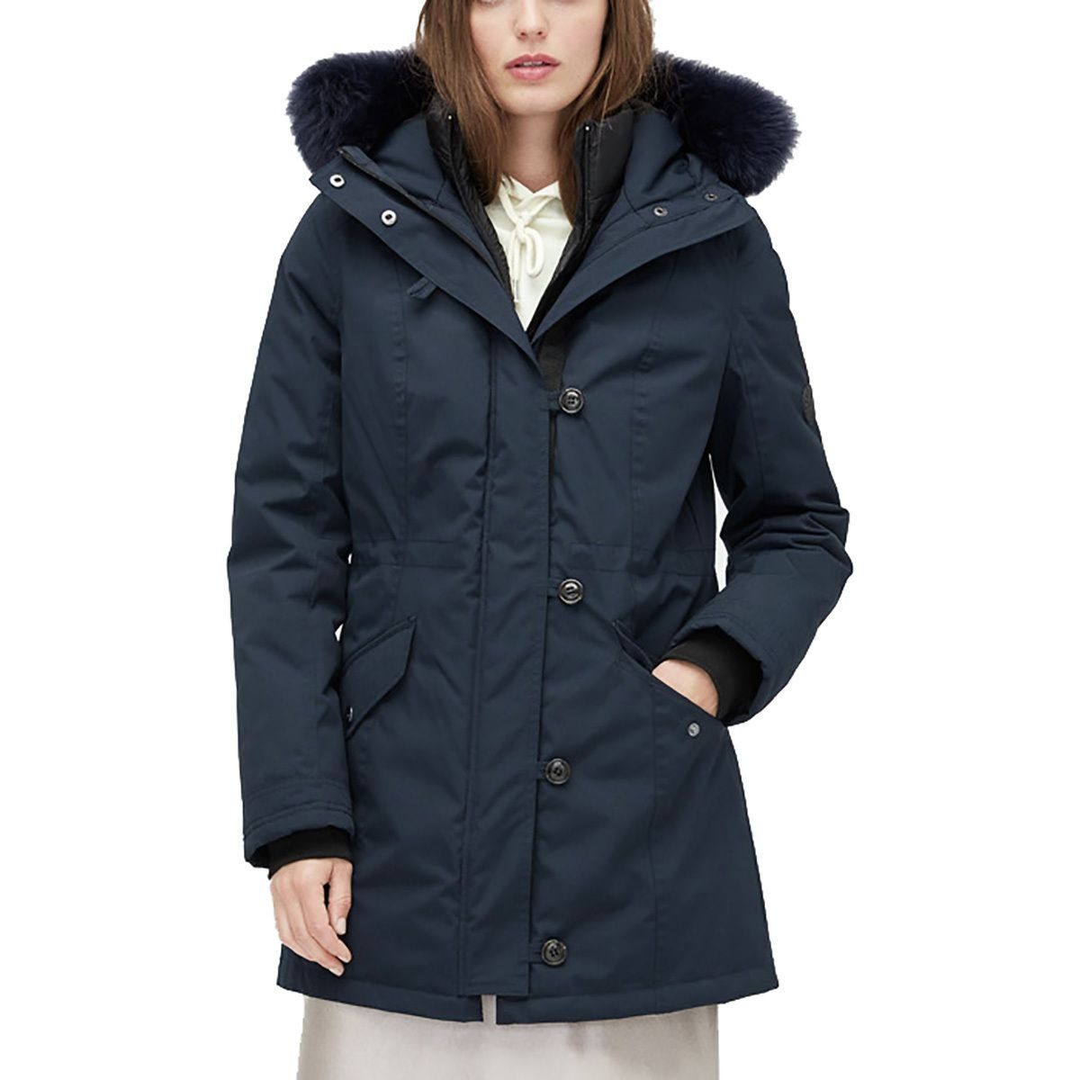 ad545324882 UGG Womens Adirondack Parka - Navy -: Amazon.co.uk: Clothing