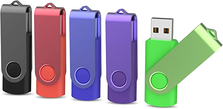 USB Pendrive 32GB 2.0 KOOTION Memoria USB Flash Drive 32 Giga 5 Piezas Pen Drives Memory Stick Pack 5 Unidades Pen USB, Negro, Blanco, Rojo, Amarillo, Púrpura: Amazon.es: Electrónica