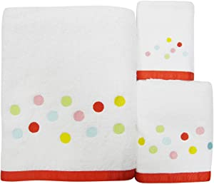 Allure Home Creations Gumball 100% Cotton 3-Piece Towel Set