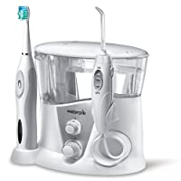 Waterpik WP-950EU - Irrigador y cepillo de dientes electrico sonico, color blanco