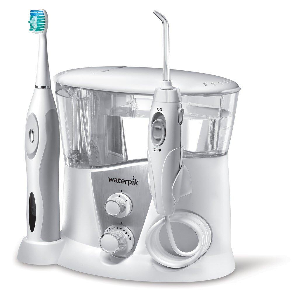 Waterpik Complete Care 7.0 Irrigador y cepillo de dientes electrico sonico, Blanco product image