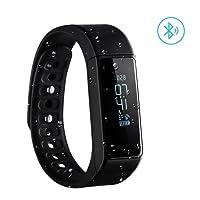 VicTsing - Pulsera Inteligente de Actividad inalámbrica, podómetro, Reloj de Pulsera, Bluetooth, Deportivo, con Seguimiento del sueño, calorías para la Actividad Diaria y el sueño, Color Negro.