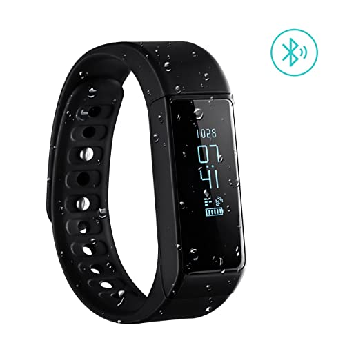 Fitness Tracker, VicTsing Wireless Activity Smart Bracelet Pedometer Wristband Watch Bluetooth Sports Bracelet with Sleep Monitoring Calories Track for Daily Activity and Sleep - Black