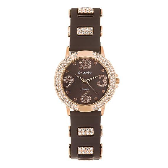New Reloj de Mujer de Moda Elegante G-Style Correa de Goma Relojes Pulsera Regalo