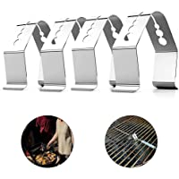4PCS Barbecue Probe Clips - Oven Grill Thermometer Meat Probe Fixing Holder with Multi Holes