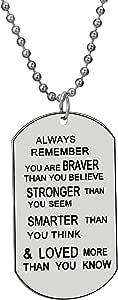 Luvalti You Are Braver Than You Believe, Más Fuerte Que You Seem y Más Inteligente Que You Think Cadena Collar
