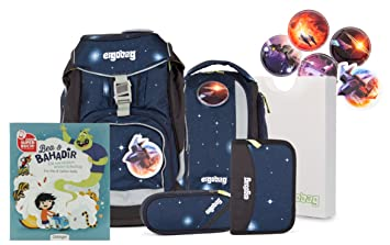 0c5301e780539 ergobag pack Ranzenset Galaxy Edition mit Gratis Superbuch Bea BAHADIR  KoBärnikus