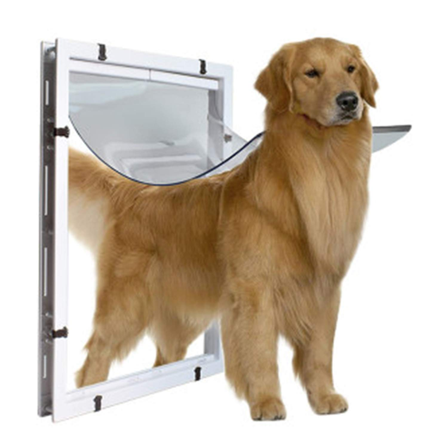 Big Dog Door Extra Large Pet Door Hole golden Hair Collie redtweiler Large Dog In And Out The Door Hole White 59  43  5cm