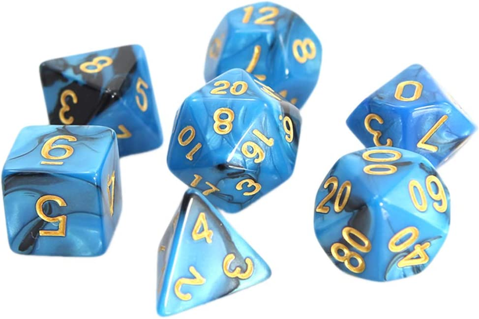 Details about  /7Pcs Heart Shape Polyhedral Dice Set for Role Play Table Game Props 03