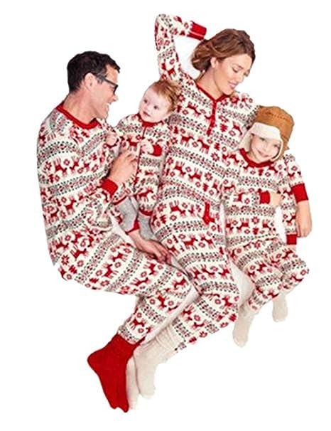 Baonmy Family Matching Christmas Sleepwear Pajamas Set (Women s X-Small 04049adcd