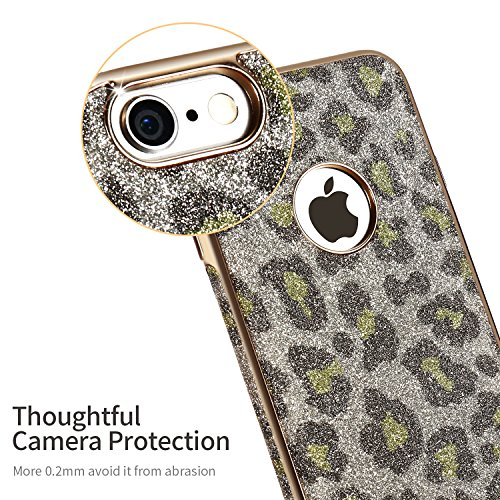 iPhone 6s Case,X-Level [Snowleopard Series] Soft Bling [Night Shiny] Phone Case for iPhone 6/6s 4.7 Inch(Green)