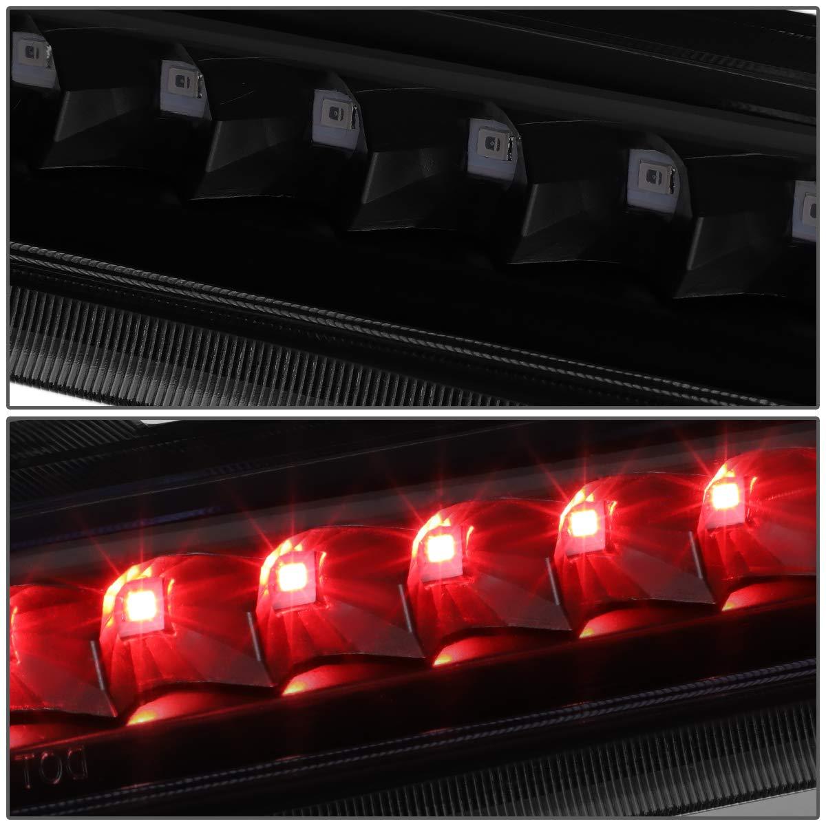 DNA MOTORING 3BL-CTRAIL04-LED-BK-SM Rear Center Full LED Third 3rd Tail Brake Light Lamp Bar Assembly
