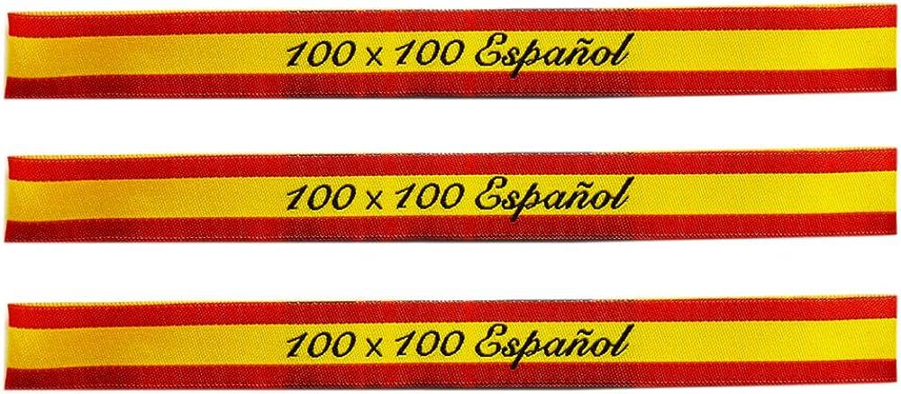 ALBERO 3 x Pulsera de tela Bandera de España. Rojo y gualda. 32 x 1,50cm. Soy 100% Español: Amazon.es: Ropa y accesorios