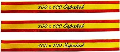 ALBERO 3 x Pulsera de tela Bandera de España. Rojo y gualda. 32 ...