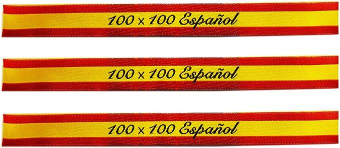 ALBERO 3 x Pulsera de tela Bandera de España. Rojo y gualda. 32 x ...