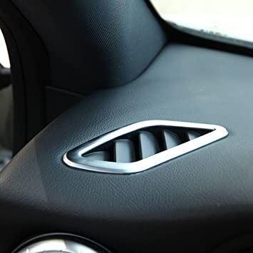 Piezas de automóviles Dashboard Aire Acondicionado Vent Trim pegatinas estilo de coches ABS cromado: Amazon.es: Coche y moto