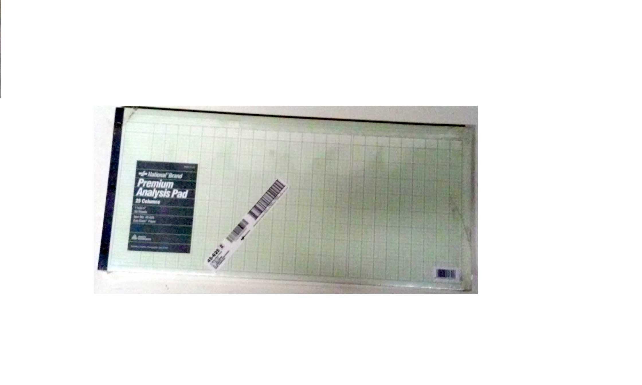 National Brand, Columnar Pad, #45-625, 11'' x 24-1/4'', Description Space 1-7/8''