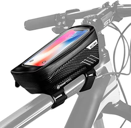 Cycle Cycling Bike Bicycle Front Top Tube Frame Double-Bag Pouch Phone Holder