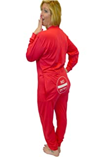 3c27ed0dd Red Union Suit Men   Women Onesie Pajamas with Funny Butt Flap ...