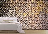 wall26 - Pattern of Metal Background - Removable Wall Mural | Self-adhesive Large Wallpaper - 100x144 inches