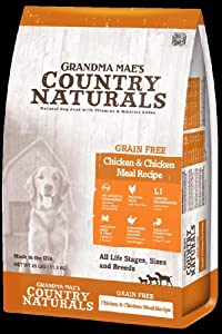 Grandma Mae'S 79700188 25 Lb Country Naturals Grain Free Chicken & Chicken Meal Dog Food, One Size
