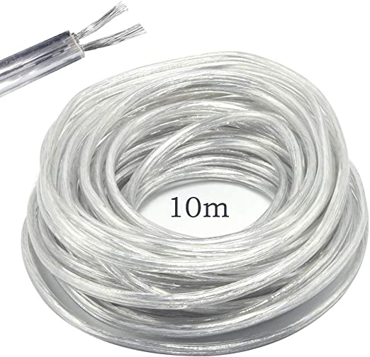 100 m Leitungen YTDY Draht Cu 2x0,5mm weiß 0,5mm