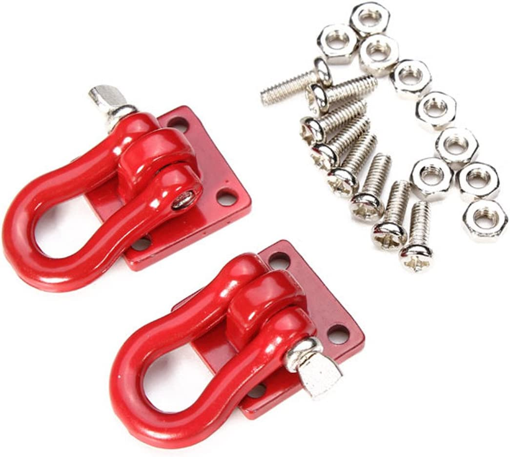 4Pcs Trailer Towing Buckle Tow Shackle Hook for 1//10 RC Rock Cler Axial SCX I5Y5
