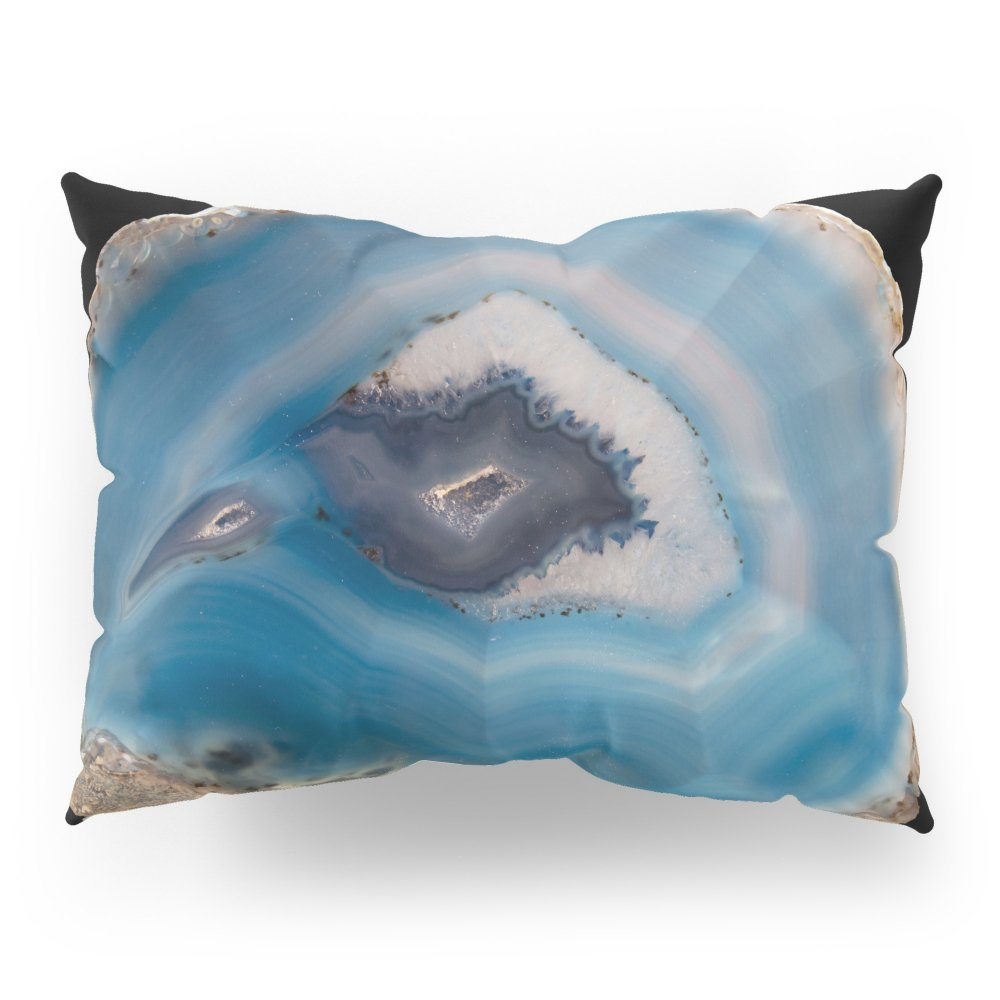 Society6 Blue Geode Pillow Sham Standard (20'' x 26'') Set of 2 by Society6