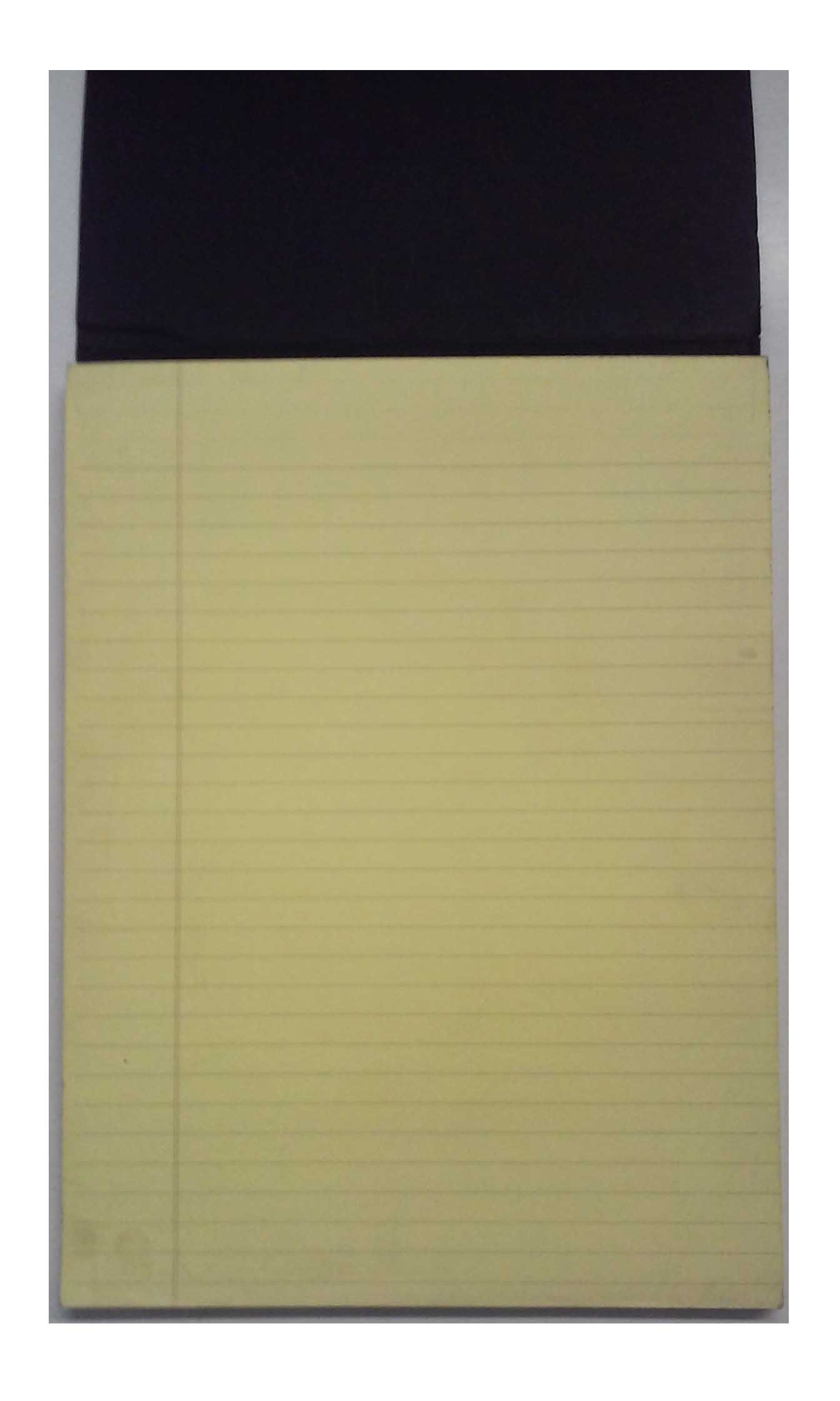 Exacompta Black Book 5701 Yellow Ruled Pad 70 Sheets 9'' x 11''
