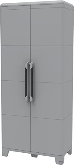 Oferta amazon: Terry, Transforming Modular 4, Armario Multifunción 2 Puertas, Material: Plástico, Dimensiones: 78 x 43.6 x 184.40 cm, Gris/Negro