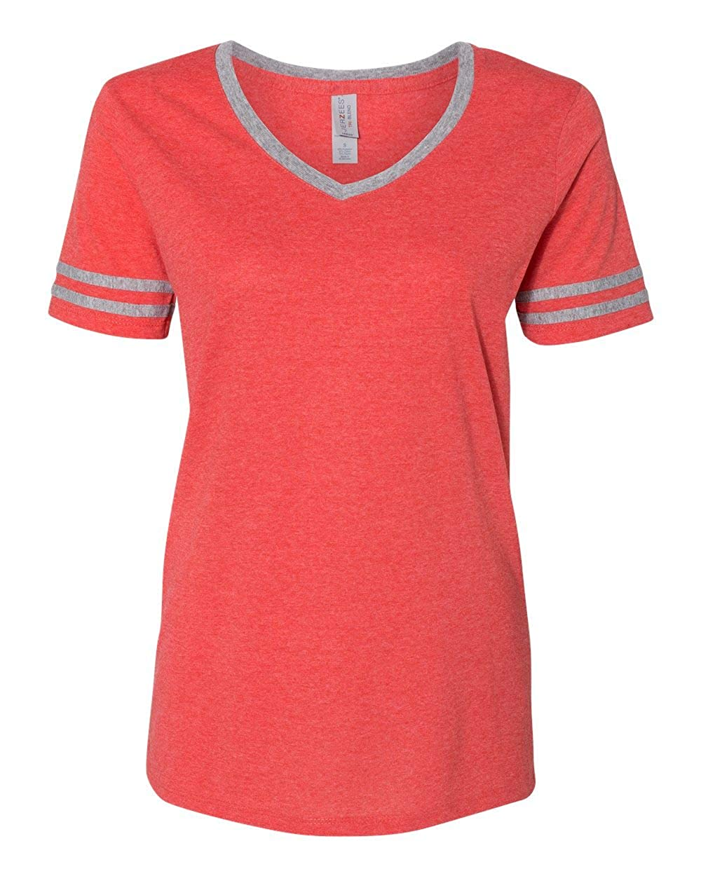 Jerzees SHIRT レディース B078S6JB5P Fiery Red Heather/ Oxford Small Small|Fiery Red Heather/ Oxford