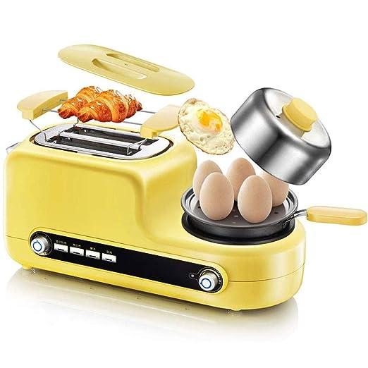 Tostadora 2 Slice Toaster y huevo Cafetera, Tostadora de acero ...