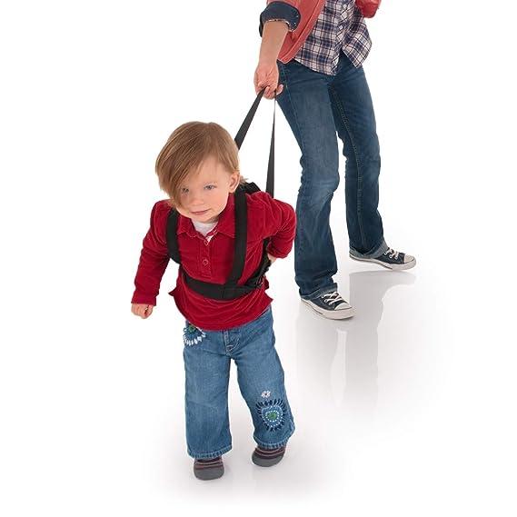 Hauck Guide Me - Arnés andador para niños, adaptable al tamaño del cuerpo del niño, cinturón de seguridad con longitud de 1.2 m, negro