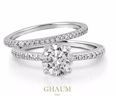 De Oxydes 925 Certifie Sertie Diamants Bague Duo Argent SMzpUVqG