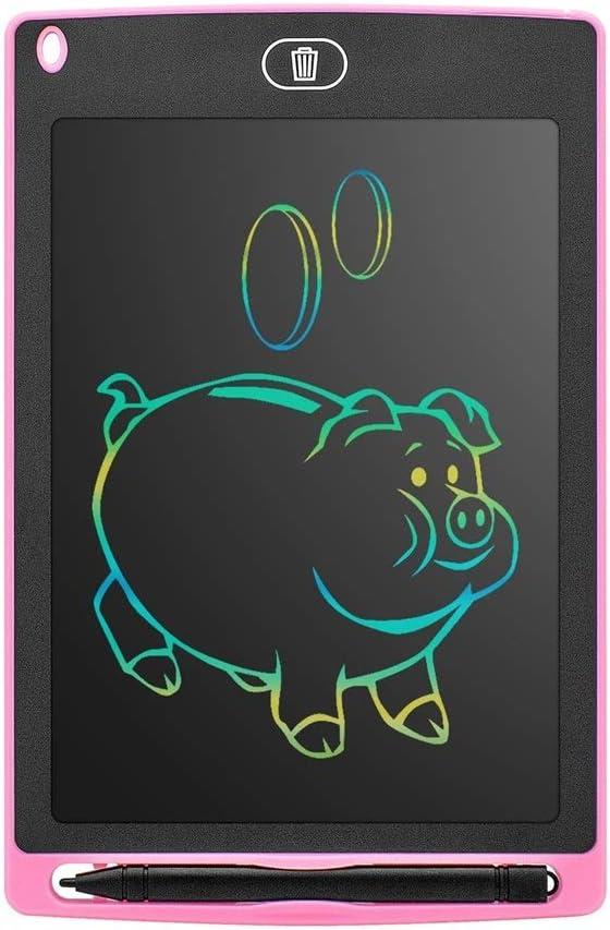 LCDライティングタブレット8.5インチカラー電子図面ボードデジタルリライトドローイングマルチカラー耐久性のある手書きのおもちゃ ペン&タッチ マンガ・イラスト制作用モデル (Color : Pink)