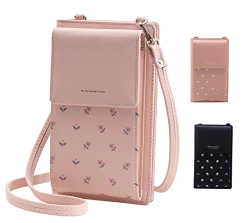 f9145d93e MOCA PrettyZys Girls Women Women s Mobile Cell Phone Holder Pocket Wallet  Hand Purse Clutch Crossbody Sling Bag with Mobile Cell Phone Wallet for  Women ...