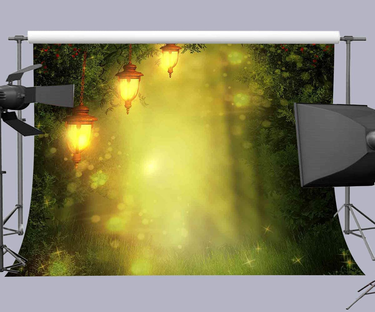 10x8ft Forest Light Background Fairytale Photography Backdrop Studio Photo Props LHFU193