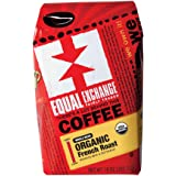 Equal Exchange Organic Coffee, French Roast, Whole Bean, 10-Ounce Bags (Pack of 3)