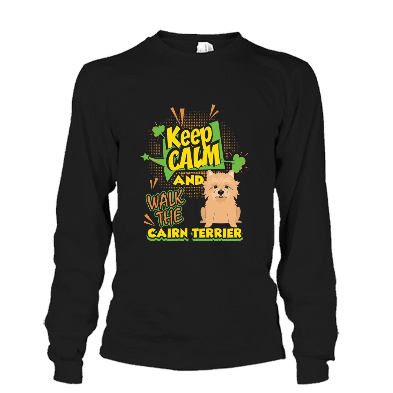 Brown Bee Keep Calm and Walk The Cairn Terrier Shirt Tee Shirt Mens Shirt