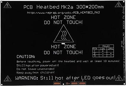 Tonysa 300 x 200 mm Impresora 3D Cama calefactada Plataforma ...