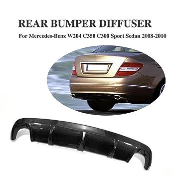 jcsportline parachoques trasero difusor para Mercedes Benz w204-c300 2008 - 2010, material de fibra de carbono: Amazon.es: Coche y moto