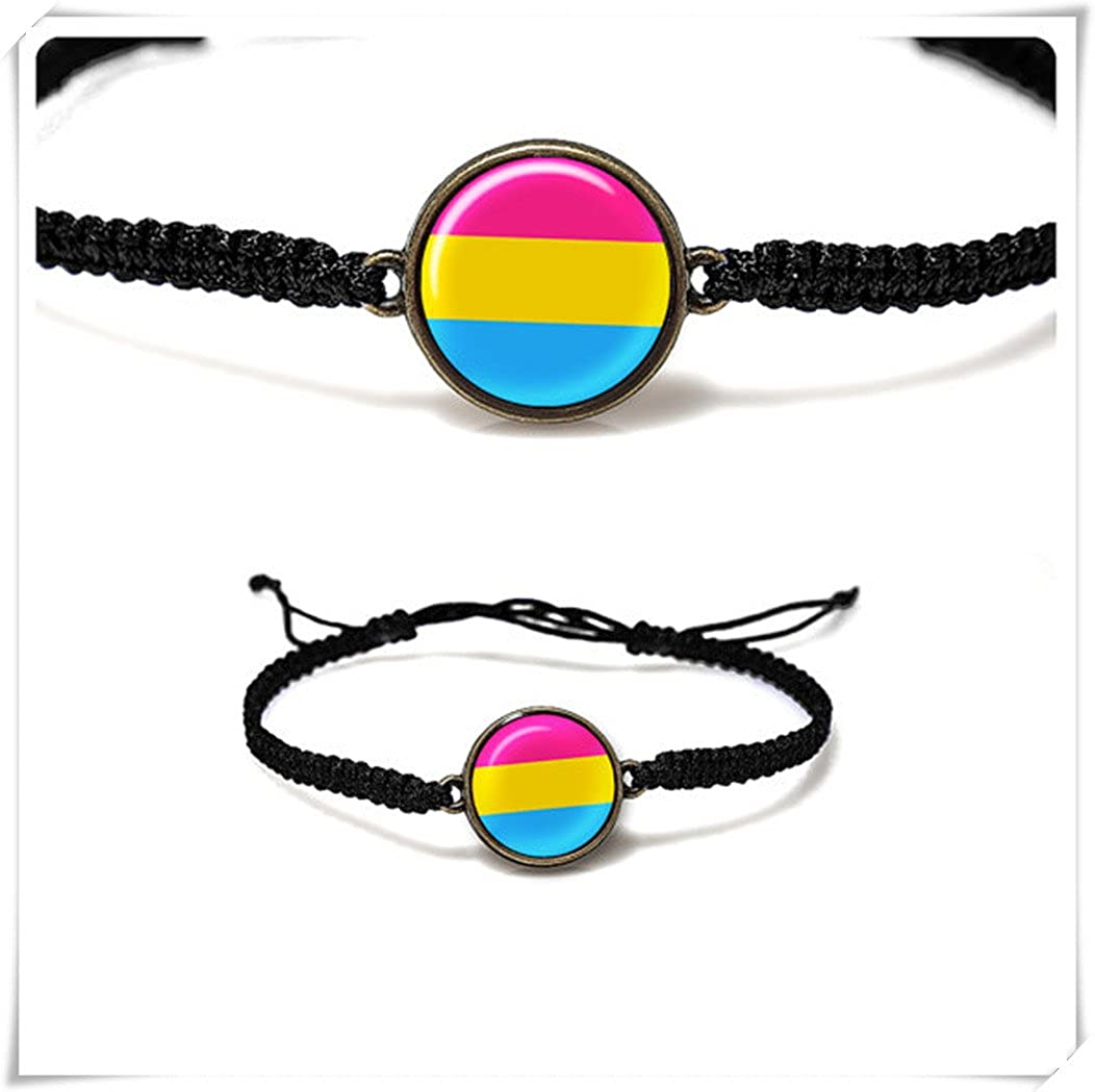 JUN Pansexual Pride Bracelet,Pansexual Jewelry,Resin Bracelet,Pink Yellow Blue Bracelet,pure handmade 1314 JUN m1