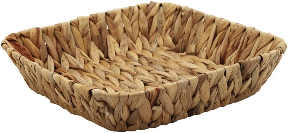 HDKJ Fruit Tray RectangleC-1PC Grass Weaving Storage Bins for Fruit or Tea,Arts and Crafts.