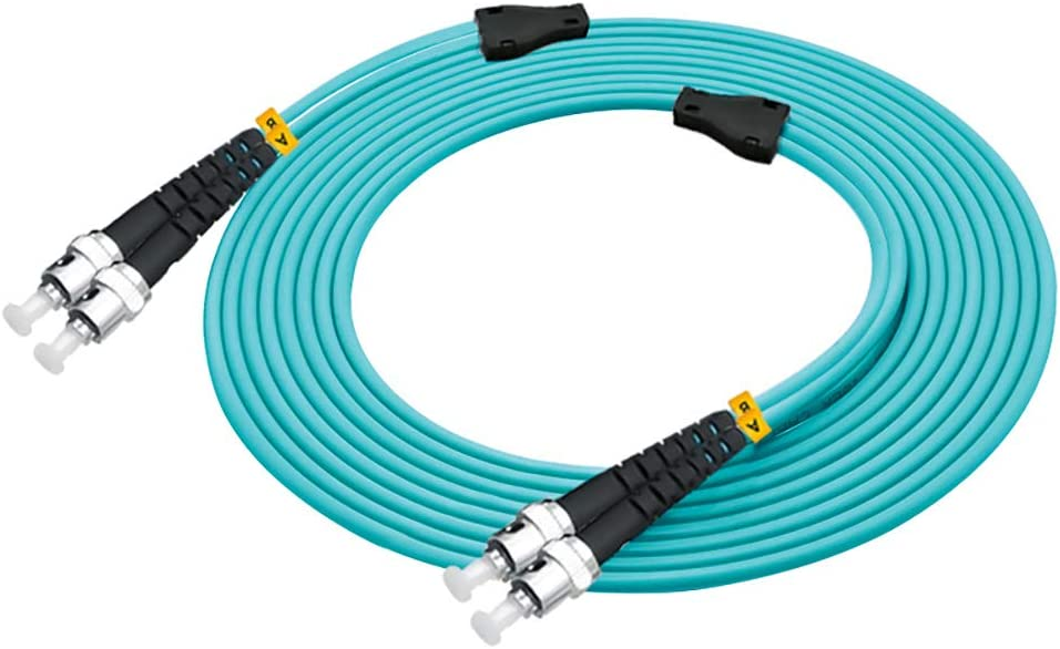 Jeirdus 50M LC to LC 10G OM3 Indoor Armored Duplex 50//125 Fiber Optic Cable Jumper Optical Patch Cord Multimode 50Meters 160ft LC-LC
