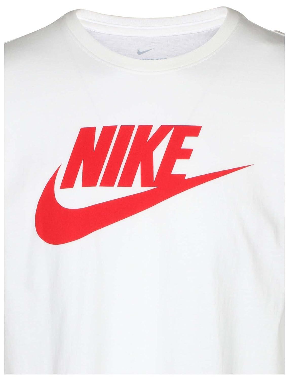 6b26d13b Amazon.com: NIKE Futura ICON T-Shirt - Men's (White/Championn Red,  X-Large): Sports & Outdoors