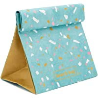 Blue Paper Lunch Bag – Insulated Thermal Tear-Proof Lunch Box – Reusable Waterproof Lunch Holder Bags Folds Out Into…