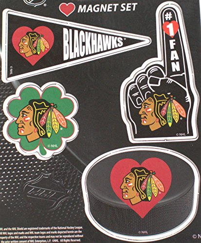 Chicago Blackhawks 4 Piece Magnet Set