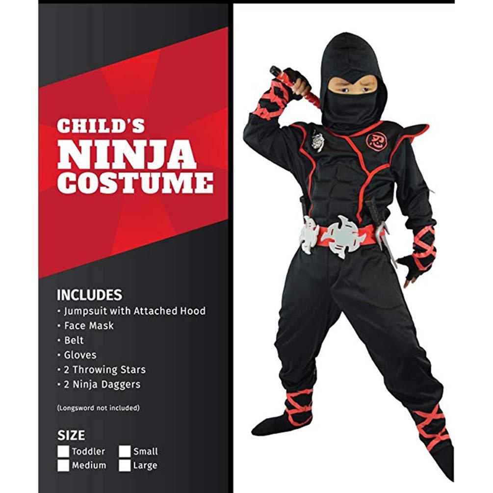 Disfraz de ninja de tortuga para niños, disfraz de ninja ...