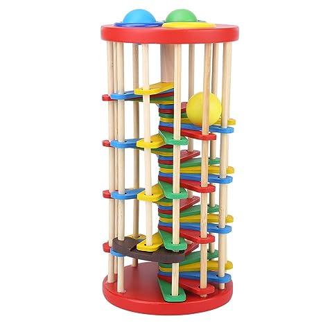 Fdit - Peluche educativo de madera colorida para niños para ...