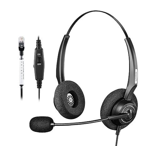 Arama mit Call Center Telefon Mono Headset mit geräuscheliminierendem  Mikrofon   Lautstärkeregler Mute Schalter für Plantronics 6024dd2b1d